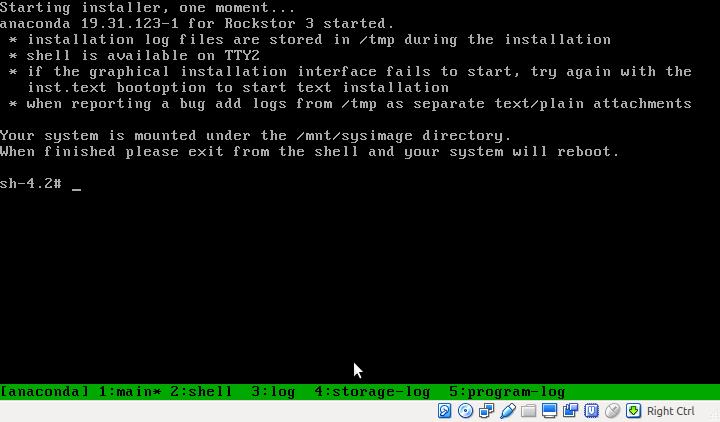 Resetting root password — Rockstor documentation