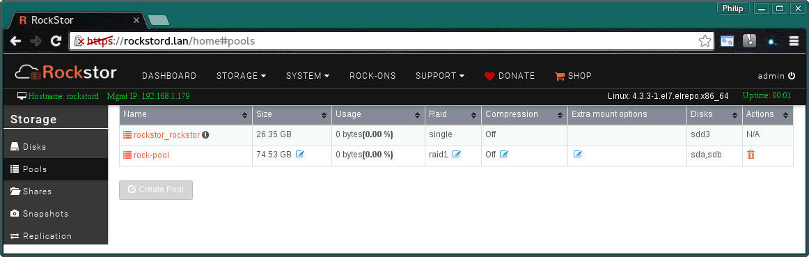 Secure File Transport Protocol (SFTP) — Rockstor documentation