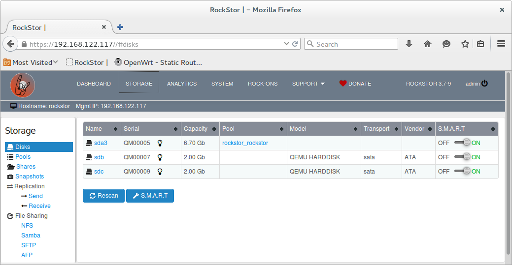 Rockstor in Virtual Machine Manager guide — Rockstor documentation