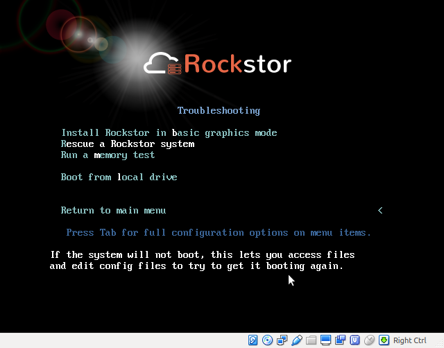 Resetting root password — Rockstor documentation
